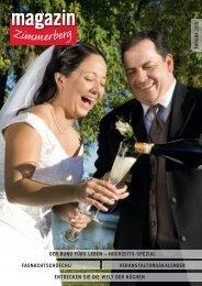 Ausgabe Januar 2012 - Zimmerberg-Magazin