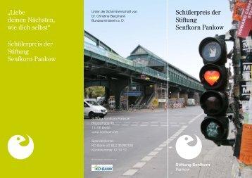 """Schülerpreis der Stiftung Senfkorn Pankow """"Liebe deinen Nächsten ..."""