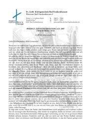 Predigt Konfirmation 2007 - Evangelische und Katholische ...