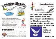 Gemeindebrief Mai 2011 - efg rodewisch