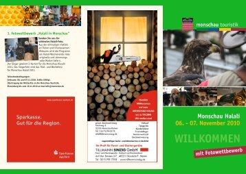 Monschau Halali 06. - 07. November 2010 mit Fotowettbewerb