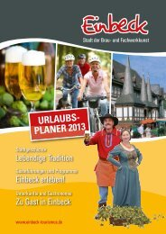 URLAUBS- PLANER 2013 - Einbeck Marketing