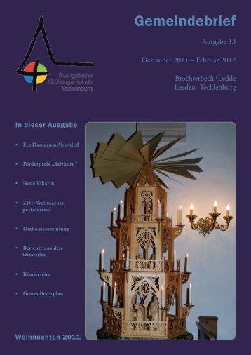 Gemeindebrief - Evangelische Kirchengemeinde Tecklenburg