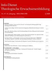 Info-Dienst Theologische Erwachsenenbildung - Katholische ...