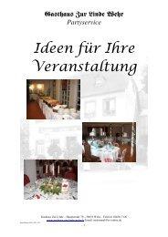 Partyservice - Gasthaus Zur Linde Wehr