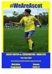 Ascot United v Chessington and Hook 031120