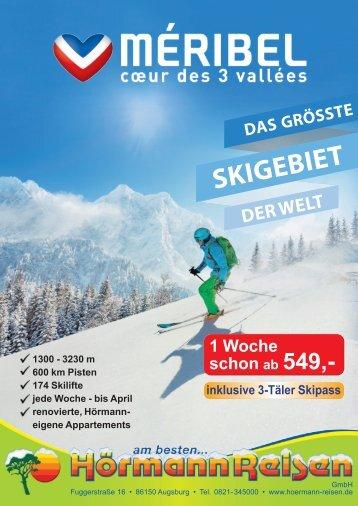 MÉRIBEL WINTER KATALOG 2020 mit Hörmann Reisen