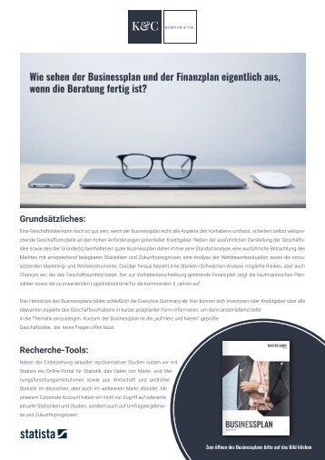 Korinth & Cie. Business-und Finanzplan