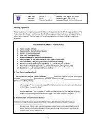 Worksheet: Writing a Paper Proposal - Terri Senft