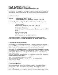 Allgemeine Geschäftsbedingungen - Theater Senftenberg