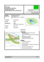Planning Navigable connection Geierswalder See – Senftenberger ...