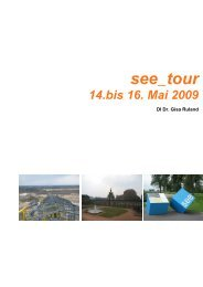 see_tour 14. bis 16. Mai 2009 stadtraumreisen - freiraum.or.at