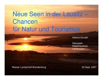 Neue Seen in der Lausitz - Haus der Natur in Potsdam