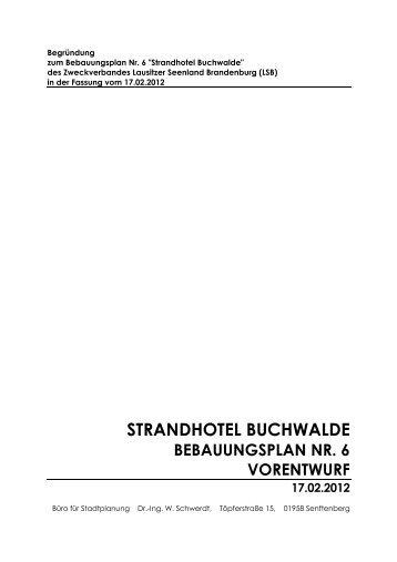 STRANDHOTEL BUCHWALDE - Zweckverband Lausitzer Seenland ...