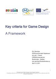 Key criteria for Game Design A Framework