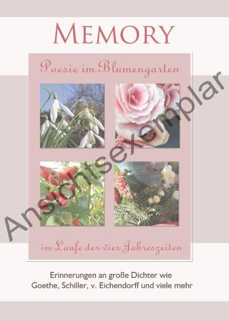 Memory- poesie im Blumengarten Ansichtsexemplar