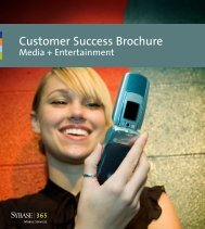 Sybase 365 Media Entertainment Customer Success Brochure