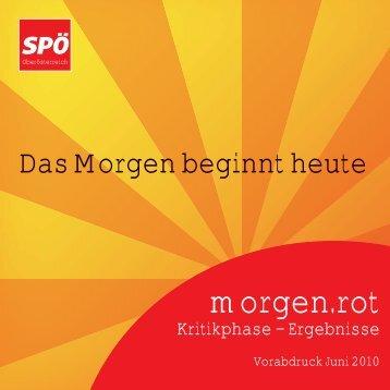 morgen.rot Broschuere 1 - SPÖ Oberösterreich