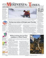 Mountain Times - Volume 49, Number 45 - Nov.4-10, 2020