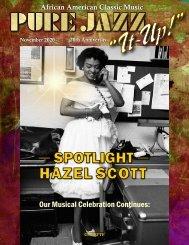 Pure Jazz It Up!  November 2020 - Hazel Scott