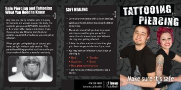 Tattooing and Piercing