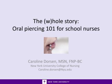 table clinic paper on oral piercings Join our email list for exclusive savings and new product information.