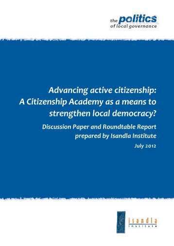 Advancing active citizenship - Isandla Institute
