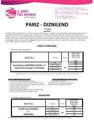 PARIZ - DIZNILEND - Il Giro del Mondo