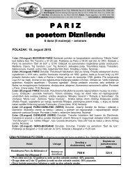2010 7 PARIZ-DIZNILEND - dodatni polazak 18 AVG - Kontiki