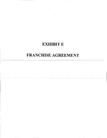 FRANCHISE AGREEMENT   Employment Agreement