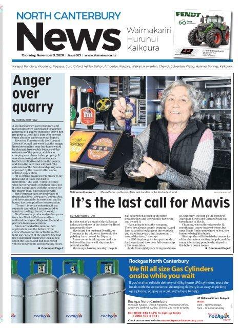 North Canterbury News: November 06, 2020