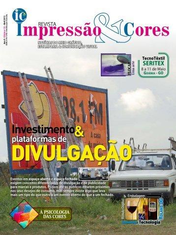 Investimento - Revista IMPRESSÃO & CORES