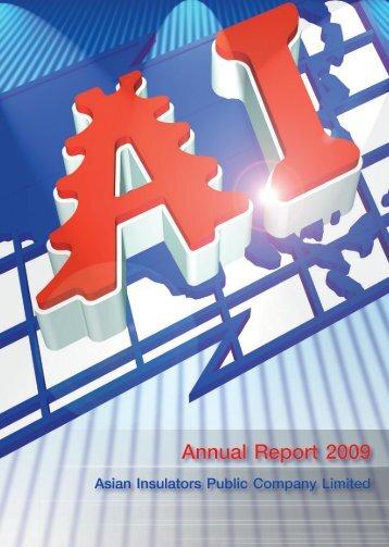 Annual Report 2009 Asian insulators Public Company Limited