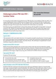 Hubungan antara TBC dan HIV – Lembar Fakta - NSW Health