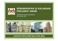 statistik kebankrapan penjawat awam - Jabatan Insolvensi Malaysia