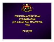peraturan-peraturan pegawai awam (kelakuan dan tatatertib) 1993