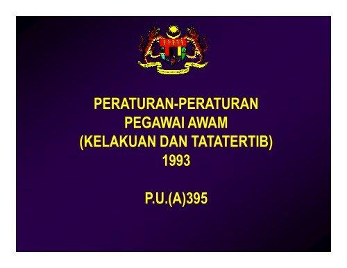 Peraturan Peraturan Pegawai Awam Kelakuan Dan Tatatertib 1993