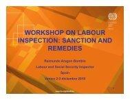workshop on labour inspection: sanction and remedies remedies