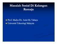 Masalah Sosial Di Kalangan Remaja - Universiti Teknologi Malaysia ...