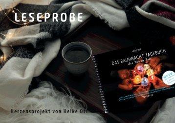 LESEPROBE -  Rauhnacht Tagebuch der Neuen Zeit - Heike Ott