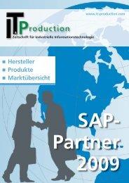 SAP- Partner 2009 - IT & Produktion