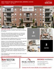 2020-1107 - OH - Ashburn Virginia - Condo 55+ - 23631 Havelock Walk Terrace #420 - Brochure - Northern Virginia Real Estate - Michele Hudnall