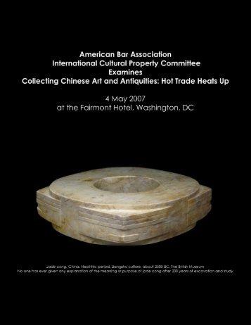American Bar Association International Cultural ... - Czegledi Art Law