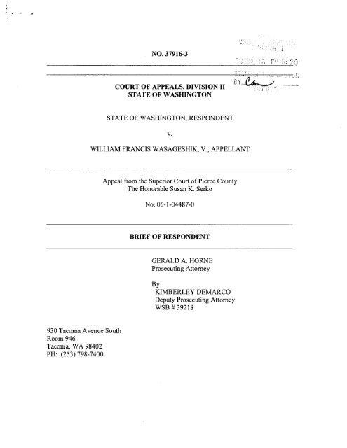 appendix - Washington State Courts