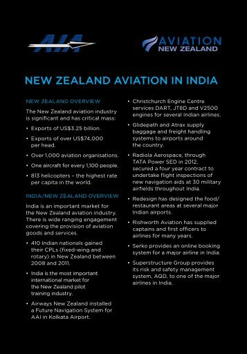 New Zealand aviation company profiles (pdf, 1.03MB