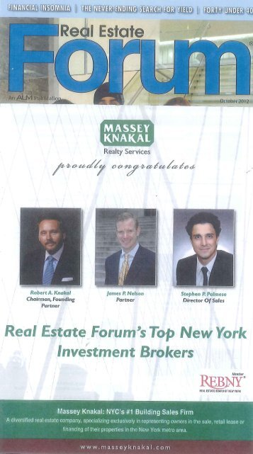 Top New York Brokers - Massey Knakal Realty Services