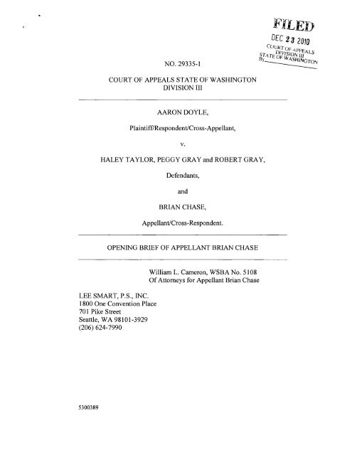 Brief of Appellant - Washington State Courts