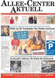 Nicht nur für Trendsetter: Der Herbst wird bunt - Allee-Center, Leipzig