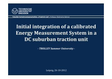 Initial integration of a calibrated Energy ... - trolley-project.eu