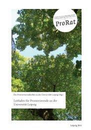 Leitfaden für Promovierende an der Universität Leipzig
